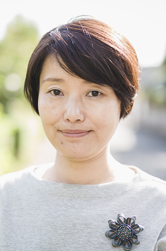 Portrait of Japanese woman on the street